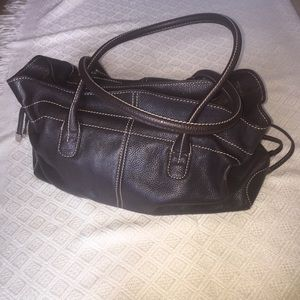 Dark Brown Valerie Stevens Faux Leather Handbag